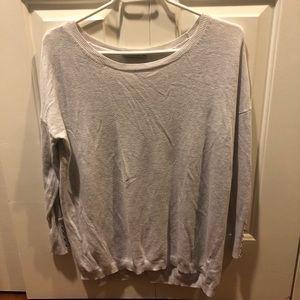 Zara light grey knit long sleeve